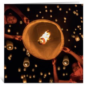 Wenskaarten met spreuken en wijsheden Wensballonnen lichtpuntjes