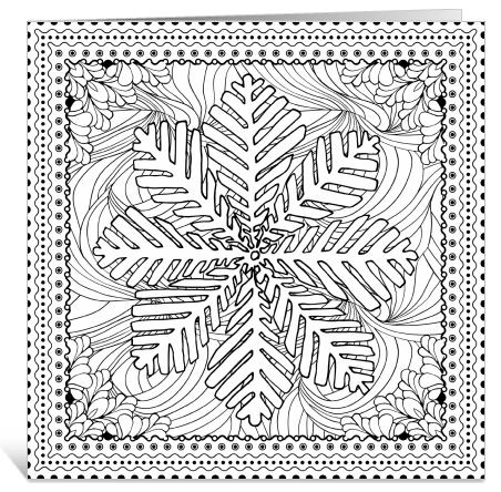 Kerst kleurkaarten sneeuwvlok ingspire