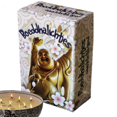 Doosjes Boeddha lichtjes met kaarslontjes voor in water | inspirerendwinkelen.nl
