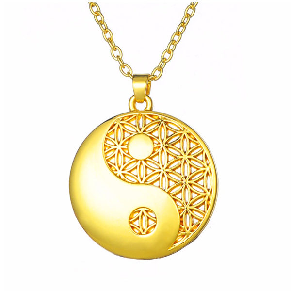 Prachtige Yin Yang mandala ketting voor Harmonie, Balans en Evenwicht | inspirerendwinkelen.nl