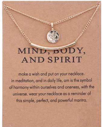 Meditatie Yoga Ketting met Ohm symbool voor innerlijke rust en harmonie