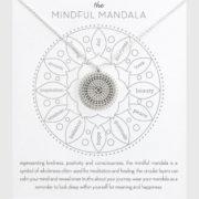 De Mindfulness Mandala ketting - met een wenskaartje voor een mindful gelukkig leven!