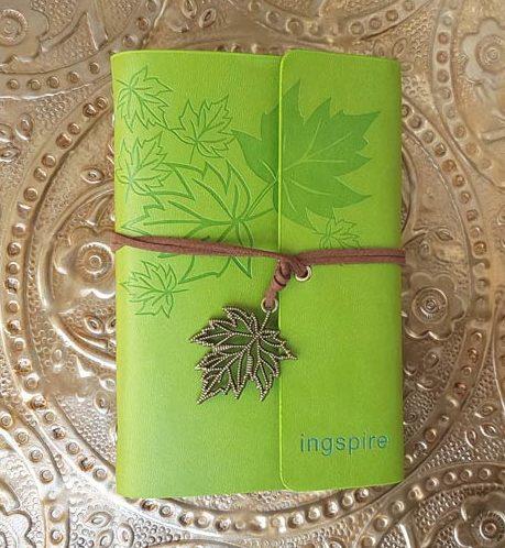Bijzonder notitieboekje in de kleur groen van ingspire voor jouw inspiratie momenten