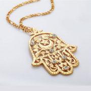 Hamsa ketting goud bestellen- voor bescherming en geluk