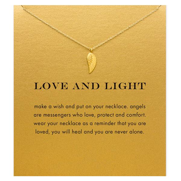 Symbolische Lichter Leven ketting met engelen vleugel voor kracht en bescherming