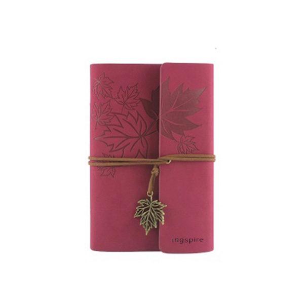 Vintage mini-notieboek kleur ROSE met zacht leren kaft - Notitieboek kopen op inspirerendwinkelen.nl