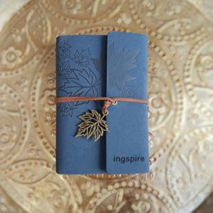 Bestel dit unieke * notitieboekje van ingspire in de kleur blauw als cadeau voor jezelf of een ander op inspirerendwinkelen.nl