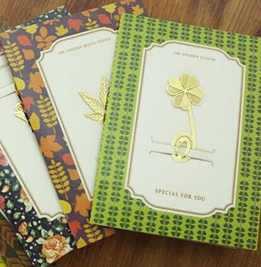 Klavertje vier boekenlegger als cadeau - inspirerendwinkelen.nl
