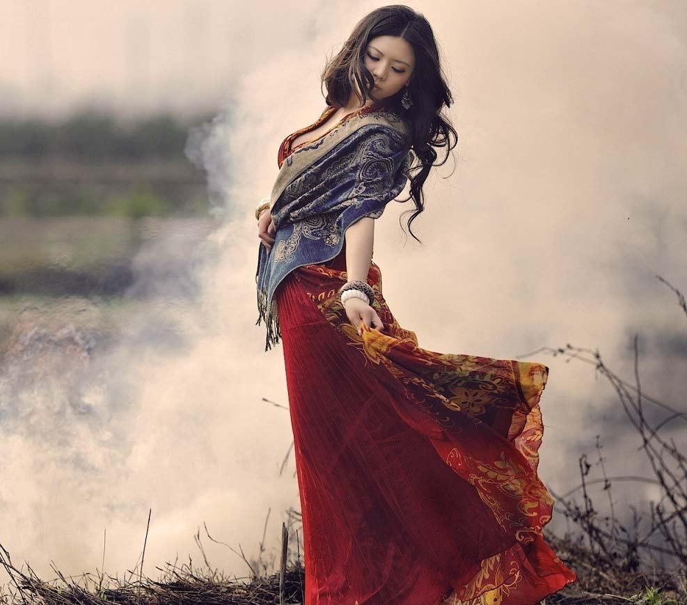 Sjaals met sieraad