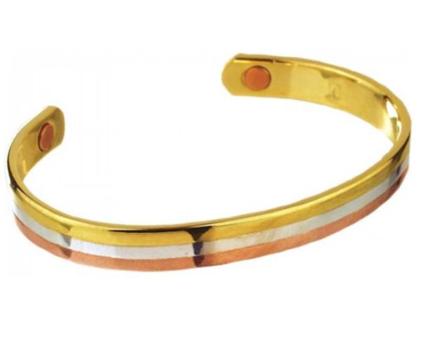 magnetische armband zilver goud voor je gezondheid tegen pijn