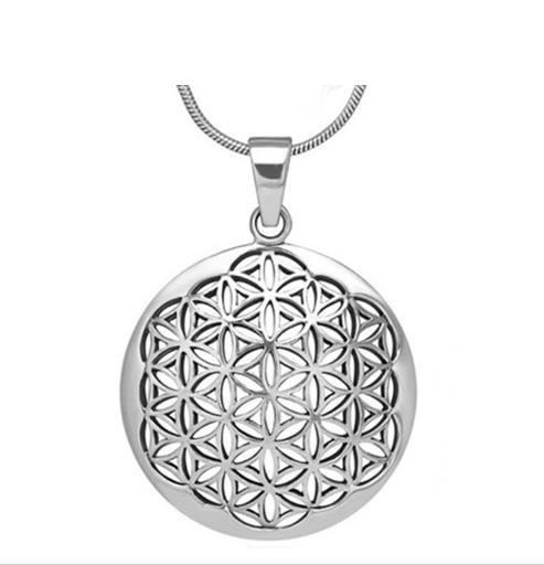 Levensbloem ketting symbolisch cadeau Flower of life hanger kopen zilver ingspire