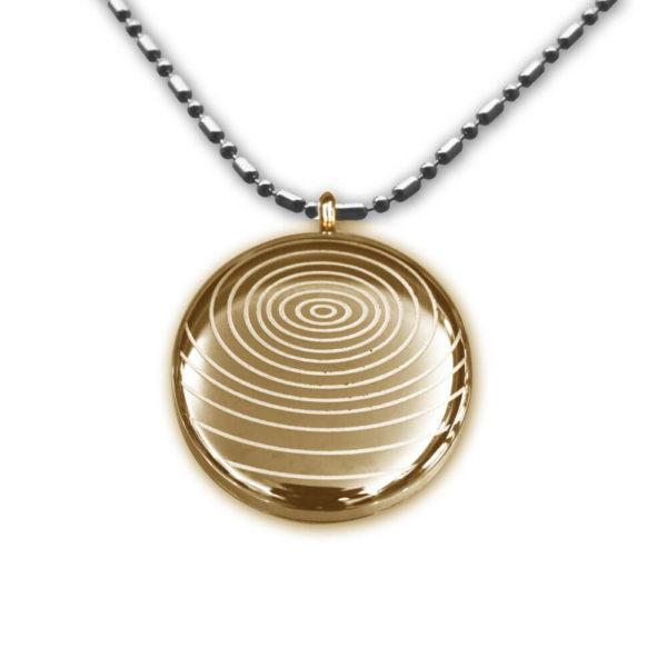 Goudkleurige Quantum Scalaire Energie Hanger Ketting voor Gezondheid Balans - cadeau met speciale betekenis