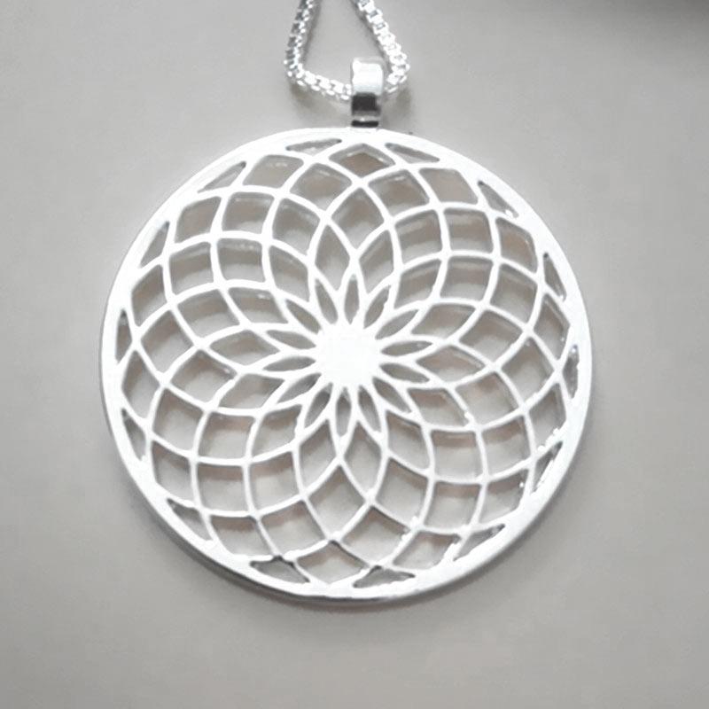 Zonnenbloem ketting voor Geluk en Energie - symbolisch cadeautje inspirerendwinkelen