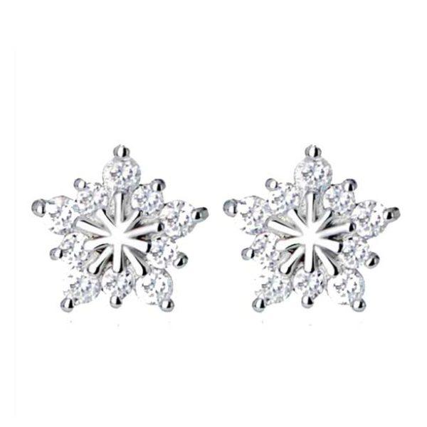 Kristal Ster oorbellen - cadeau sieraden setje voor de Feestdagen!