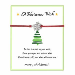 origineel kerstcadeau idee - geluksbrenger armband op wenskaartje