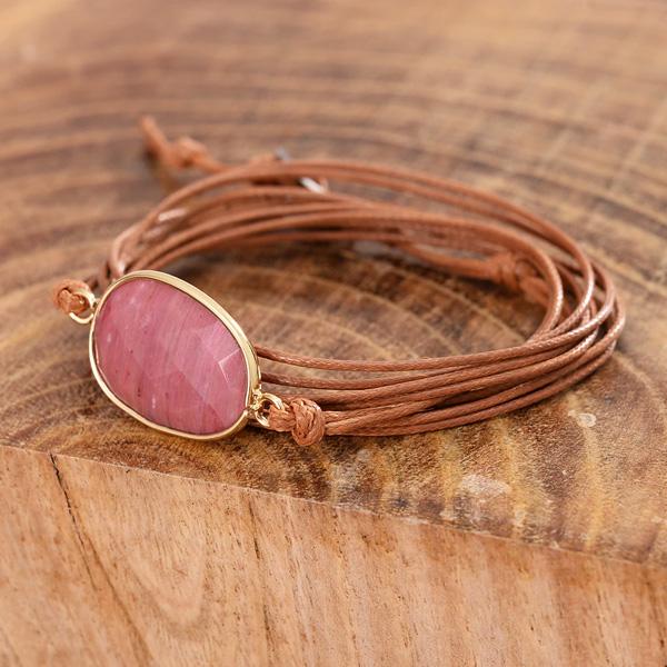 Yoga armbandjes - bestel deze herstel armband met Rhodaniet steen voor kracht en geluk - sieraden met betekenis