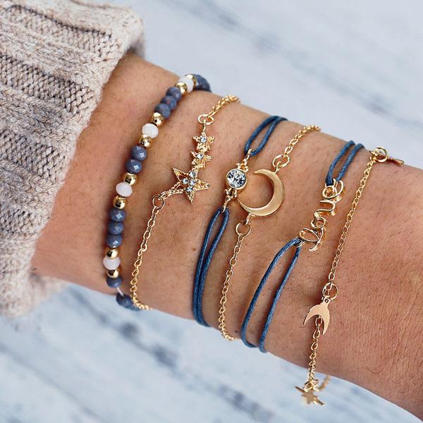 Blauwe Yoga armband Sterrenhemel – voor Hoop Sterkte Geluk dat jouw wensen in vervulling mogen gaan