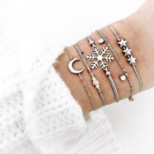 Fonkelende armband voor jouw winter outfit of leuk als symbolisch cadeau voor de Feestdagen